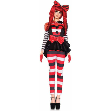 Leg Avenue 3-Piece Rag Doll Adult Halloween Costume (Rag Dolls Halloween Night)