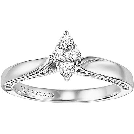 Certified Diamond Anniversary Ring (Enchanted Marquise 1/5 Carat T.W. Certified Diamond Ring 10kt White Gold)