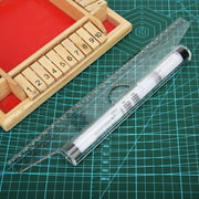 Mgaxyff 30cm 11.8in Parallel Rolling Ruler Multi Purpose Clear Drawing Glider Professional Compass Protractor,Drawing Ruler,Parallel Ruler