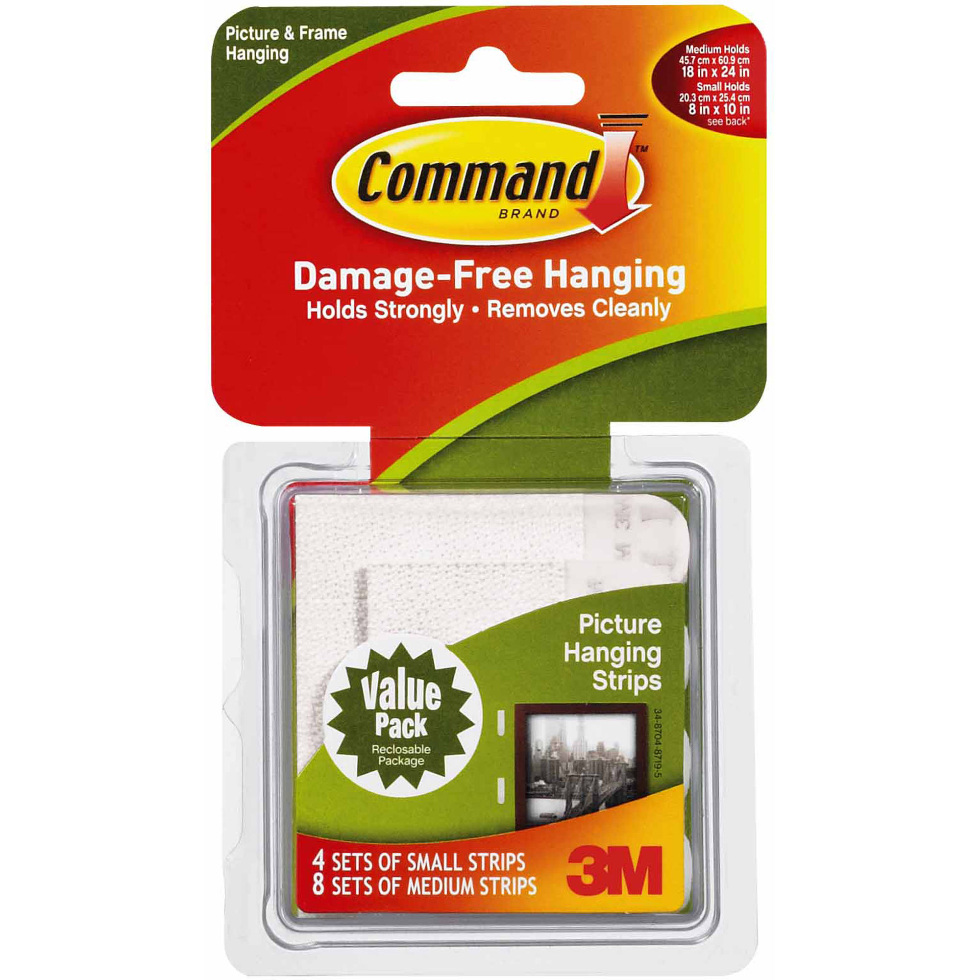 3M 17203 Command Picture Hanging Strips Combo Pack