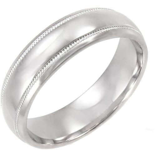 Men's Milgrain Detailed Sterling Silver Ring, 6mm