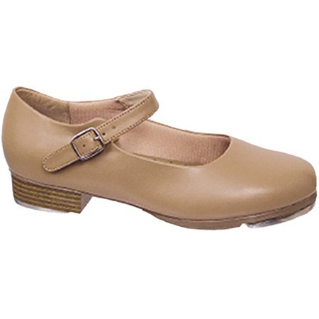 Beige Leather-Like Mary Jane Non-Skid Sole Rhythm Tones Tap Shoes 5-11 Womens](511 Shoes)