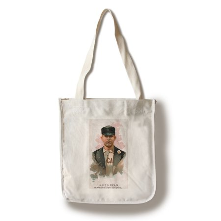 Chicago White Stockings   James Ryan   Baseball Card  100  Cotton Tote Bag   Reusable