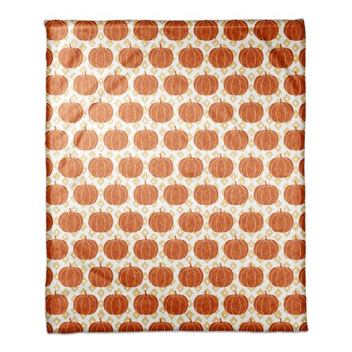 The Holiday Aisle Danger Diamond Pumpkin Pattern Blanket