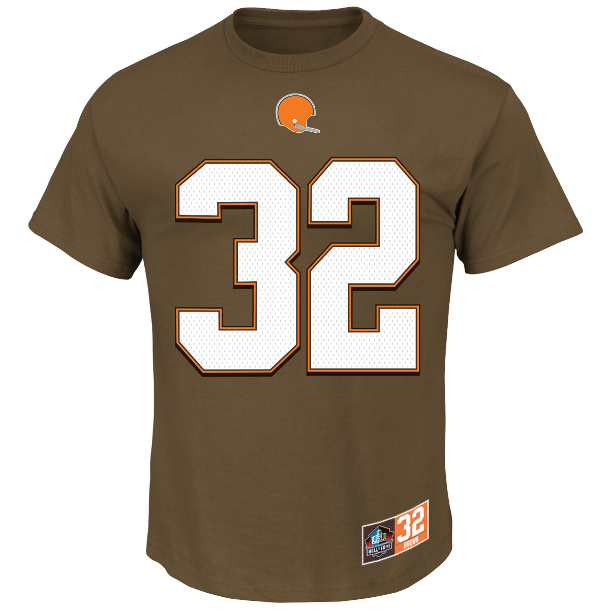 "Jim Brown Cleveland Browns Majestic NFL ""Eligible Receiver II"" HOF Men's T-Shirt"