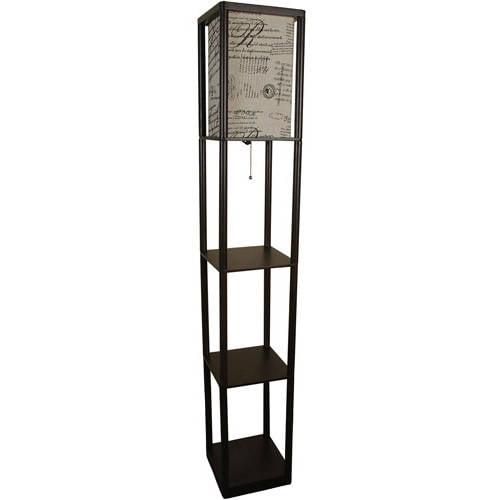 Mainstays Shelf Floor Lamp with Shade