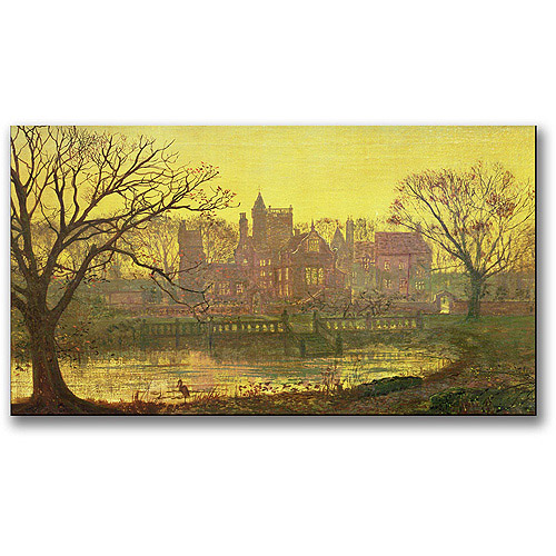 "Trademark Fine Art ""The Moated Grange"" Canvas Wall Art by John Atkinson Grimshaw"
