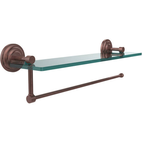 Allied Brass Prestige Que New Collection Paper Towel Holder with 22 Glass Shelf (Build to Order)