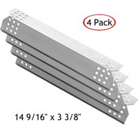 Set of four heat plates for Gas Grill Models from Char-broil, Kenmore, Grillmaster, Uberhaus and Nexgrill