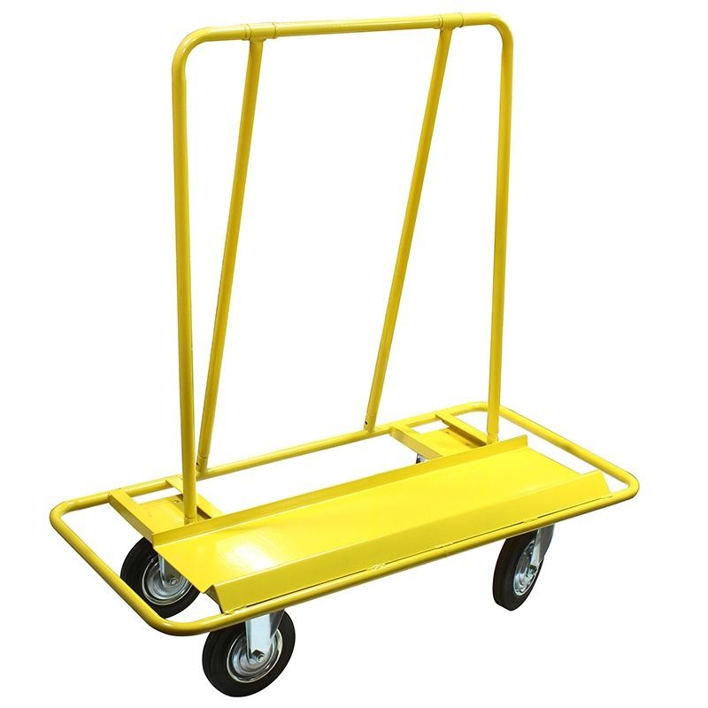"GHP 2000Lbs Capacity Open Frame Steel Dolly Cart w 8"" Swivel & Fixed Moving Wheels"