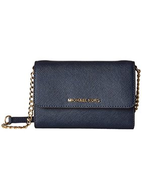 bceafceea29d Product Image New Michael Kors Womens Jet Set Travel LG Phone Crossbody  Wallet Purse Navy Blue