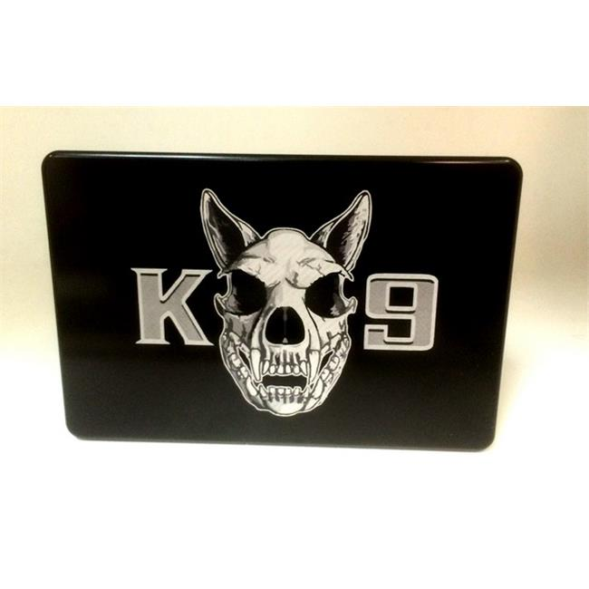 Helm 3 x 5 in. Billet Aluminum Trailer Hitch Cover - K-9