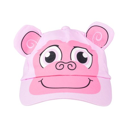 Kids Adjustable Pink Monkey Animal Zoo Baseball Cap Hat Costume Accessory (Monkey Hats)