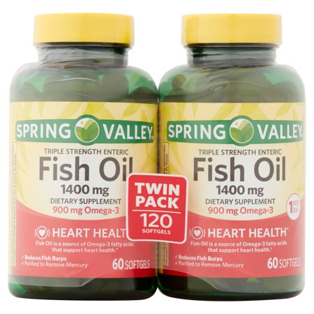 Spring valley fish oil enteric softgels 1400 mg 60 ct 2 for Spring valley fish oil review