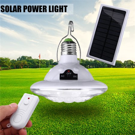 1/2/3/4 Pcs 22LED E27 Solar Lamp Night Light Outdoor/Indoor, Emergency Lighting Tent Night Lamp 3 Modes, Light Control Hooking Camping Accessories Garden Lighting+Remote Control ()