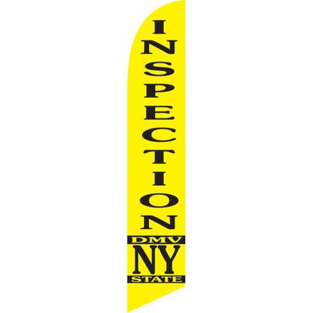 Neoplex Inspection Dmv Ny State Deluxe Swooper Flag