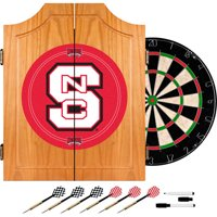 North Carolina State Dart Cabinet with Darts and Board
