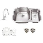 Schon SC1067553 Double Basin Undermount Kitchen Sink Set