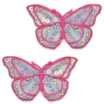 Expo Int'l Iron-On Butterfly Sequin Applique Pack of 2