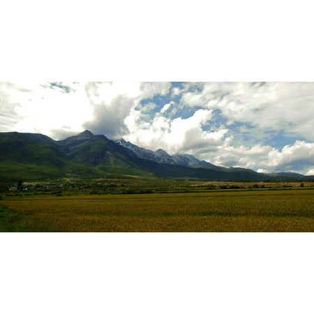 Canvas Print Jade Dragon Snow Mountain Yunnan Mountain Asia Stretched Canvas 10 x 14