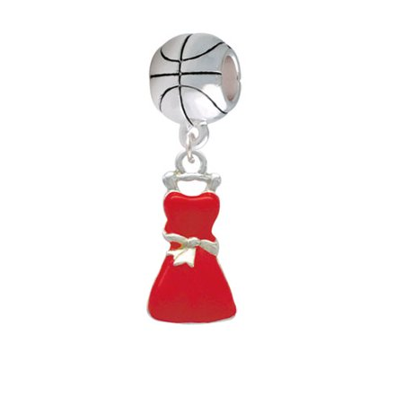 Red Dress - Basketball Charm Bead Dress Basket