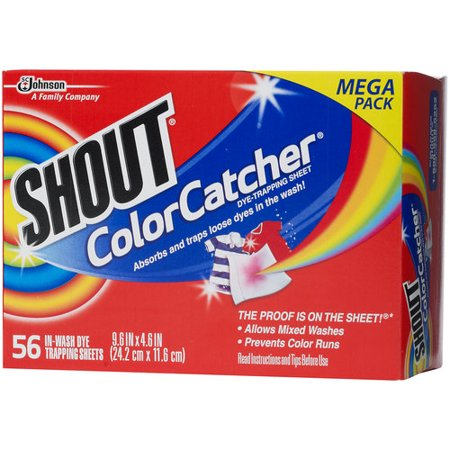 Shout Color Catcher In-Wash Dye Trapping Sheets, 56 count - Walmart.com