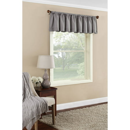 Mainstays Textured Solid Curtain Valance - Walmart.com