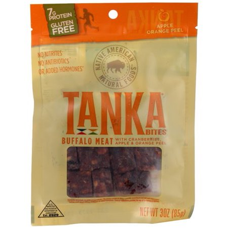 Tanka Bites Buffalo Meat Apple Orange Peel 3 oz