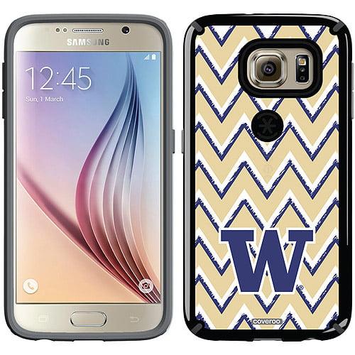 University of Washington Sketchy Chevron Design on Samsung Galaxy S6 CandyShell Case by Speck