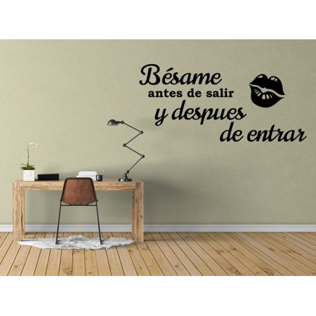Vinilo Decorativo Para Pared Bésame Antes De Salir Y Despues De Entrar SQ56 - Fantasmas Decorativos Halloween