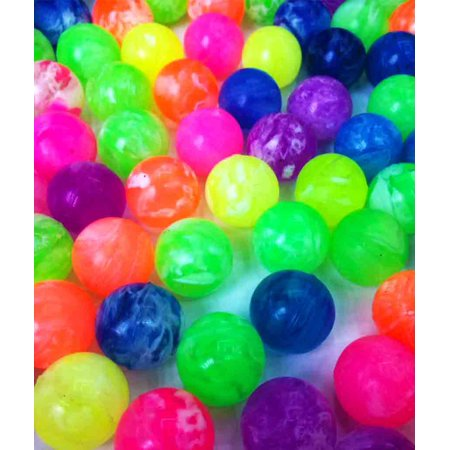 Fun Central (AZ949) 48 pcs Neon Bouncing Balls, Bouncing Balls for Kids, Bouncy Balls Bulk, Bouncing Ball Kit - Bouncy Balls Bulk