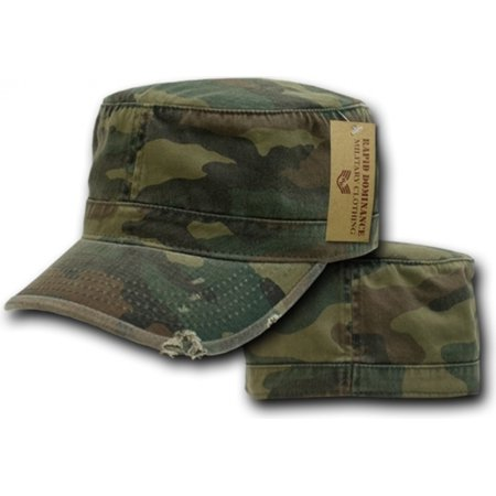 RapDom Vintage BDU Mens Cadet Cap [Woodland Camouflage - S]