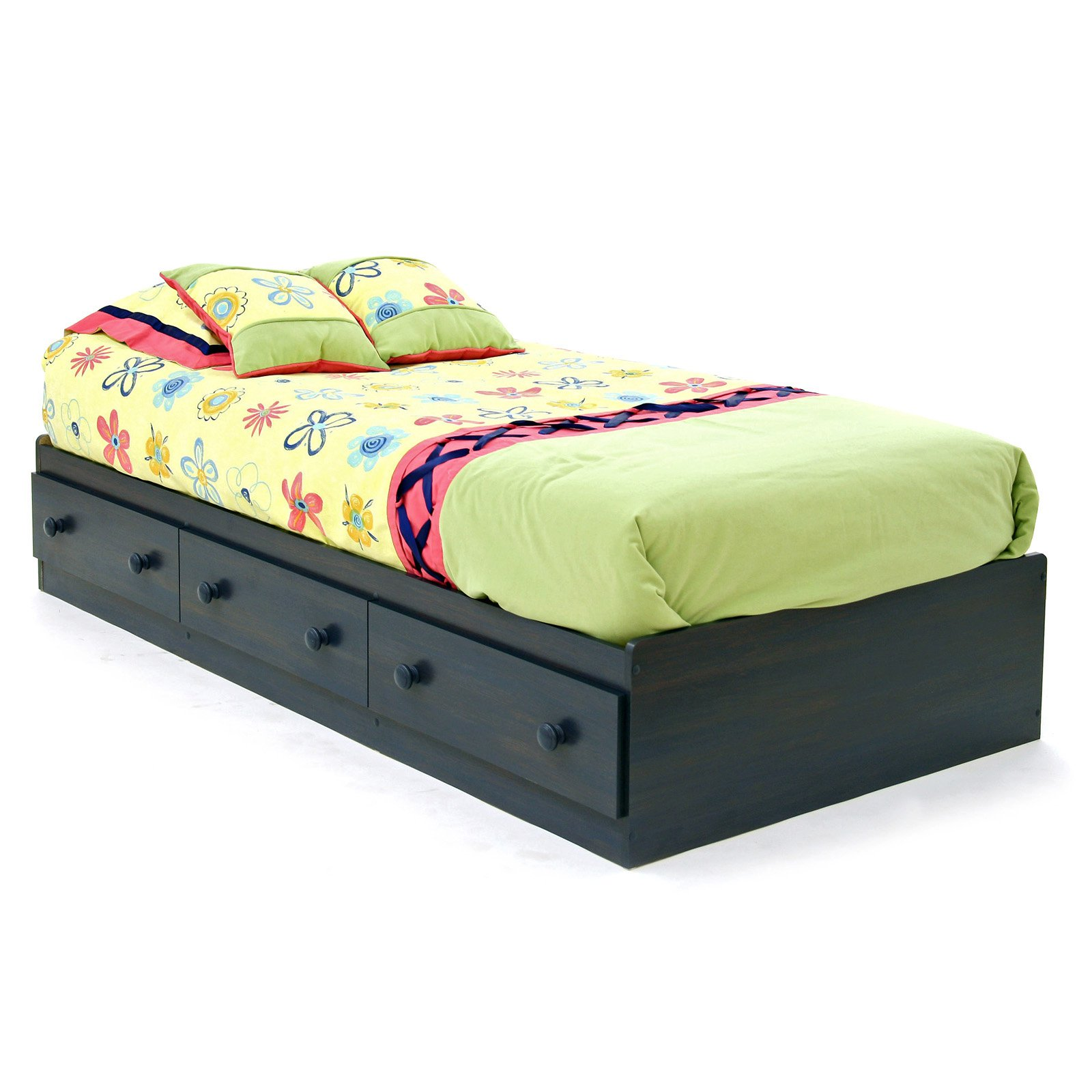 South Shore Summer Breeze Mates Twin Platform Bed Collection   Blueberry    Walmart.com