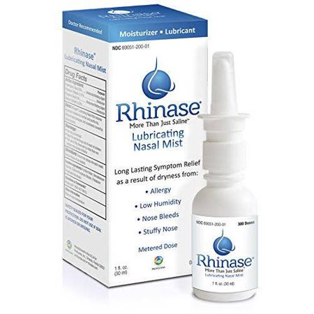 Rhinase Lubricating Nasal Mist, 1 fl oz (Best Way To Clear Sinuses Without Medicine)