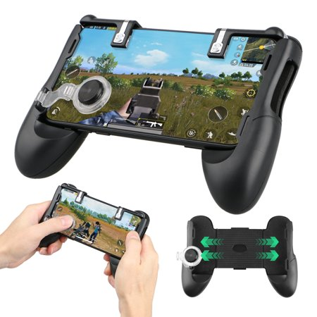 Trigger Set - EEEKit Gaming Joystick Handle Holder Retractable Phone Controller Joystick Extended Handle Shooter Trigger Fire Button Aim Key For PUBG Fortnite