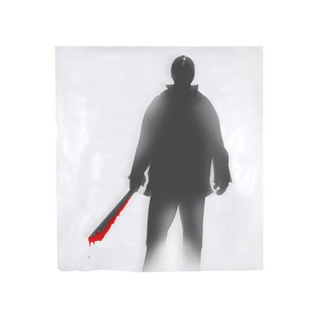 Shower Curtain Machete Killer Halloween Decoration](Cardboard Halloween Window)