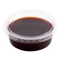 Basic Nature Clear PLA Plastic Lid - Fits Sauce Cups, Compostable - 2000 count box