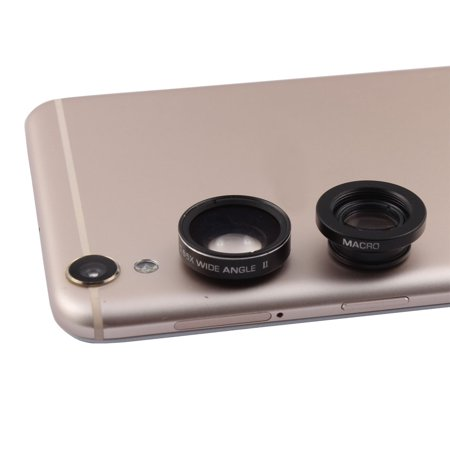 Universal Adjustment Cellphone Clip on 0.65X Wide Angle 10X Macro Cam Lens Kit - image 4 of 4