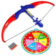 Athletics Bow Children's Kid's Toy Bow and Suction Dart Playset w  Suction Darts, Target by Velocity Toys