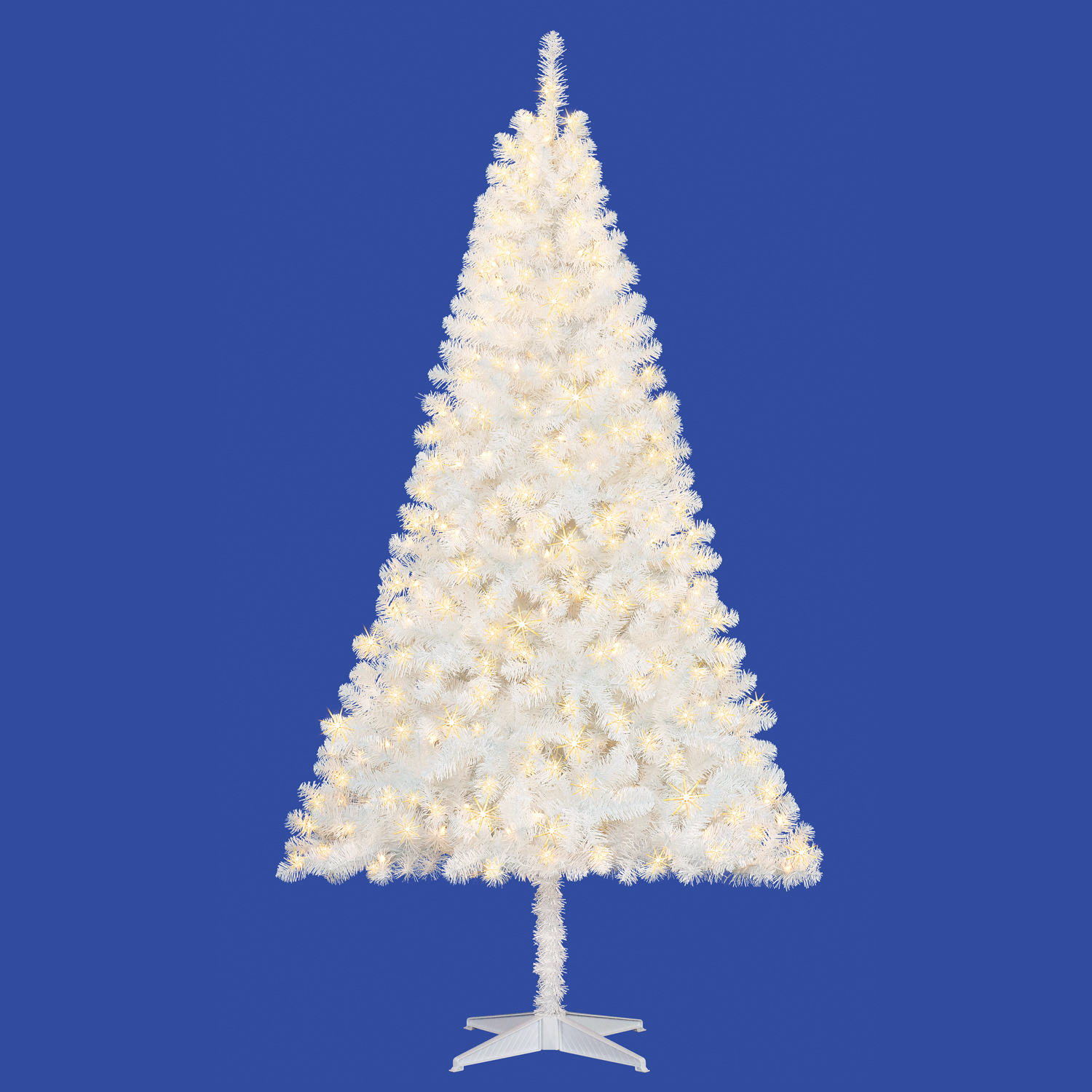 pre lit 65 madison pine white artificial christmas tree clear lights walmartcom - 65ft Christmas Tree