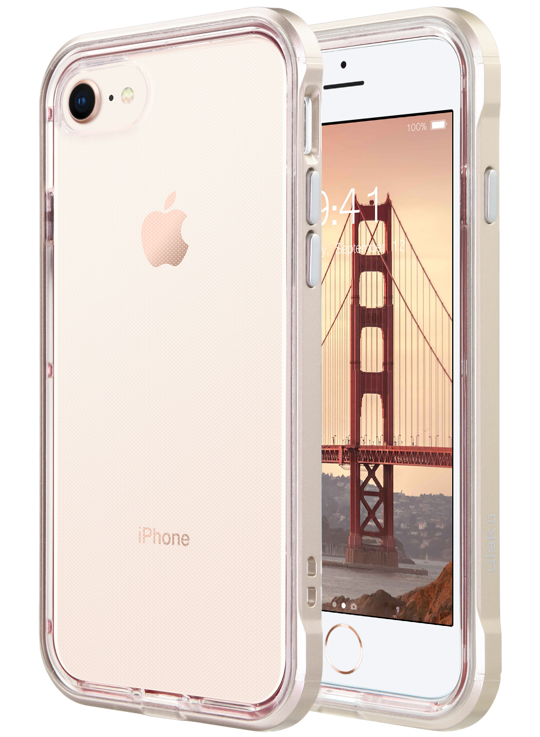 iPhone 7 4 7 Case, ULAK Reinforced Frame Crystal Clear PC