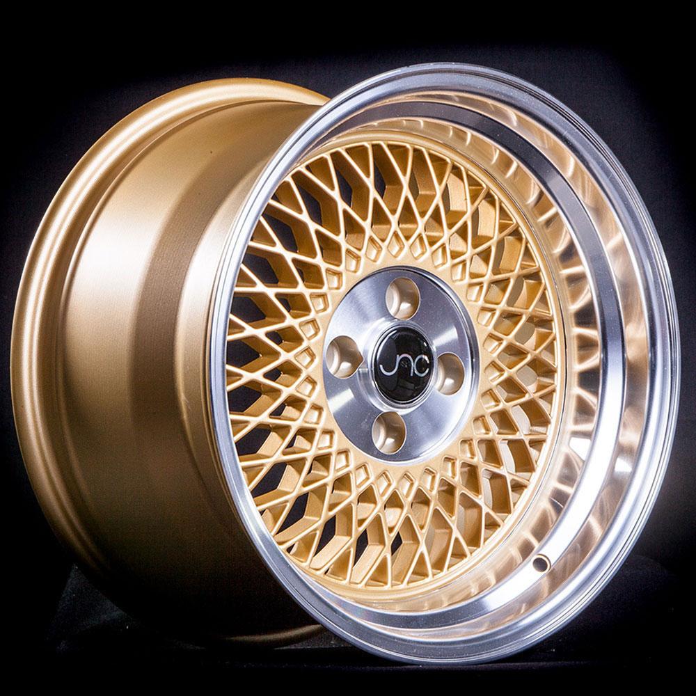 4x100-15x8 inch 15 JNC043 Full White Rim JNC Wheels