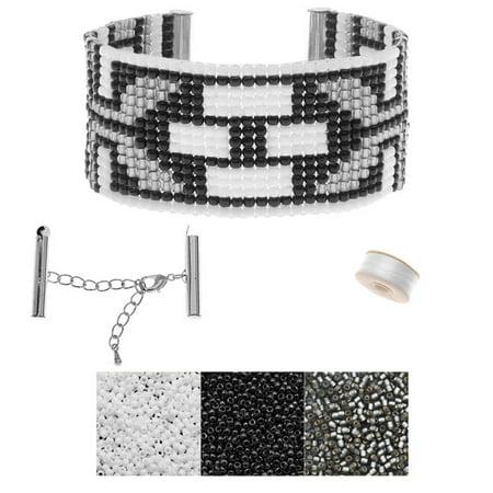 Refill - Black Tie Deco Loom Bracelet  - Exclusive Beadaholique Jewelry Kit - Loom Bracelet Instructions