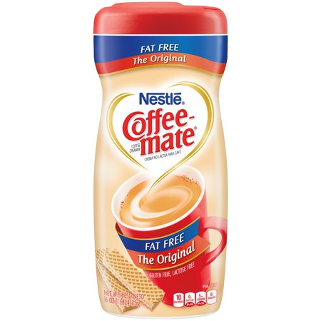 (3 pack) Nestle Coffeemate Fat Free Original Powder Coffee Creamer 16 oz. Canister