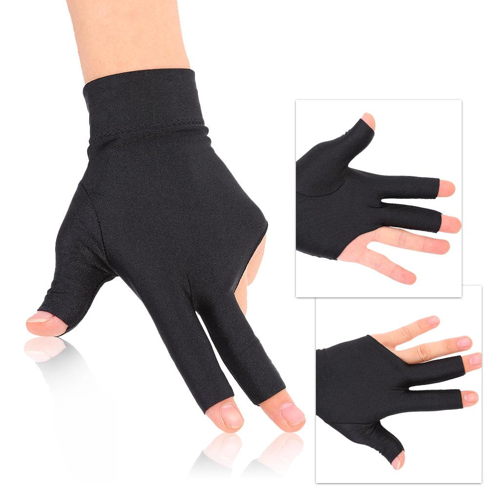 2 x Spandex Snooker Billiard Cue Glove Left Hand Three Finger Pool Cue Glove
