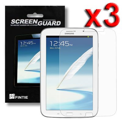 Fintie [3-Pack] Samsung Galaxy Note 8.0 Tablet Screen Protector Shield, Individual Retail