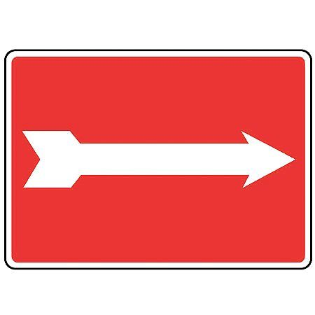 ACCUFORM Safety Sign,Self Adh.,10x14 In,(Arrow), MADM485VS