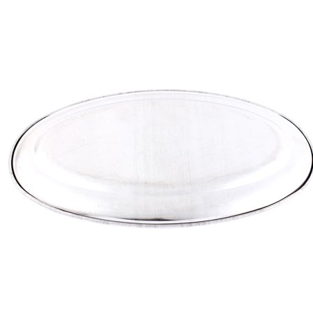 Household Essentials Article Stainless Steel Shaped Lunch Fish Dish Plate Tray 24 5Cm 2Pcs
