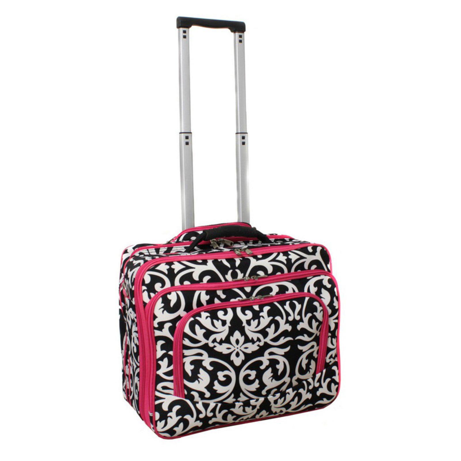 World Traveler Damask Rolling 17 in. Laptop Case by World Traveler
