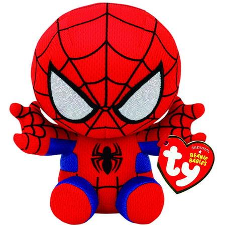 New Ty Spiderman Plush, Red/blue, Regular Plush Stuffed Animal Plush Toy